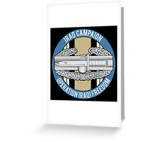 Combat Action OIF Greeting Card