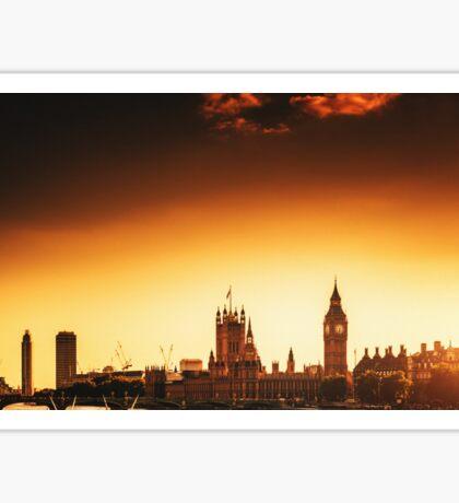 big ben skyline Sticker