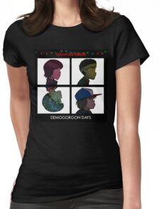 Stranger Things - Gorillaz Album Cover Style Womens Fitted T-Shirt