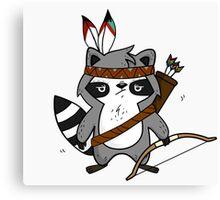 Apache The Raccoon Canvas Print
