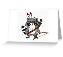 Apache The Raccoon Greeting Card