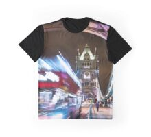 bus on the tower bridge Graphic T-Shirt