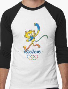 Rio 2016 mascot olympiade brasil Men's Baseball ¾ T-Shirt