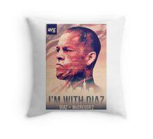 Ufc 202 - Im With Nate Diaz v Conor MCGregor Throw Pillow