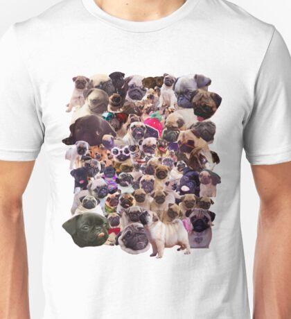 Pugs, pugs, pugs Unisex T-Shirt