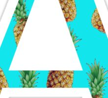 Alpha Pineapple Letter Sticker
