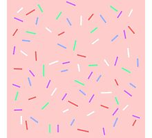 Sprinkles On Pink Background Photographic Print
