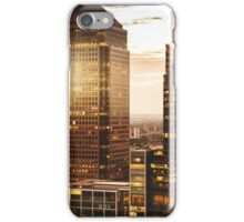 canary wharf skyline iPhone Case/Skin
