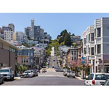 Along Lombard Street Photographic Print