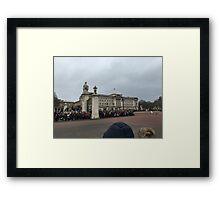Buckingham Palace on a cloudy day Framed Print
