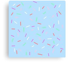 Sprinkles On Blue Background Canvas Print