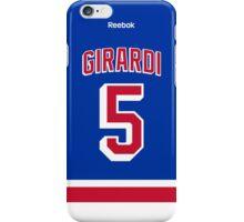 New York Rangers Dan Girardi Jersey Back Phone Case iPhone Case/Skin