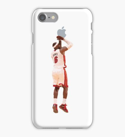 Lebron James shoots an Apple iPhone Case/Skin