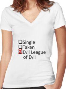 Evil League Of Evil Member Women's Fitted V-Neck T-Shirt