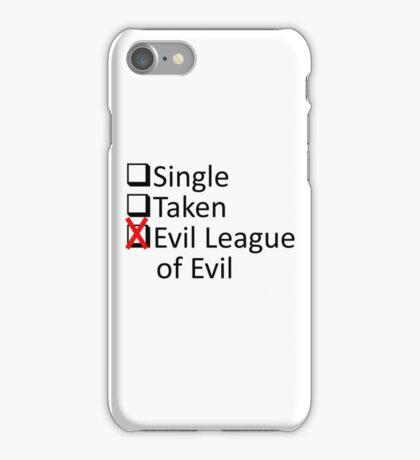 Evil League Of Evil Member iPhone Case/Skin