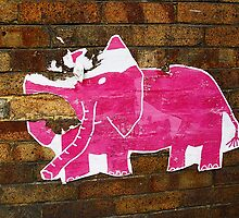 Tattered Pink Elephant  by Ethna Gillespie