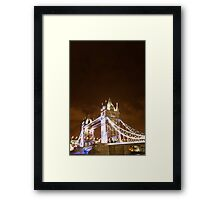 tower bridge view  Framed Print
