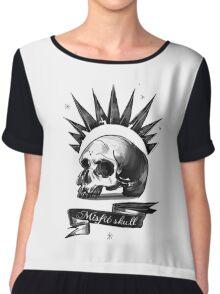 misfit skull Chiffon Top
