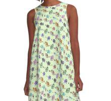 Mini Monsters pattern A-Line Dress