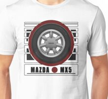 Mazda MX5 Daisy Wheel Unisex T-Shirt