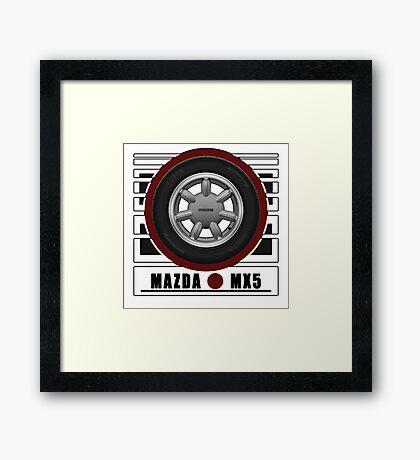 Mazda MX5 Daisy Wheel Framed Print