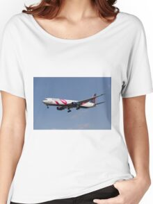 Delta Airlines Boeing 767 Women's Relaxed Fit T-Shirt