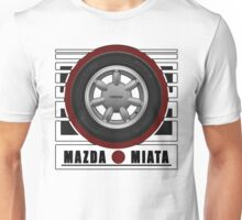 Mazda Miata Daisy Wheel Unisex T-Shirt