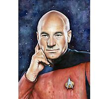 Captain Picard Portrait - Star Trek Art Photographic Print
