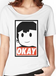 "Ness OKAY (""OBEY"") Women's Relaxed Fit T-Shirt"