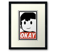 "Ness OKAY (""OBEY"") Framed Print"