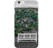 Espalier Trees and Bench iPhone Case/Skin