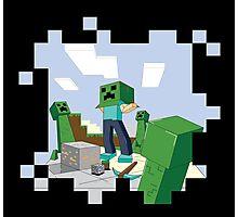 Minecraft Skill #67: Camouflage Photographic Print