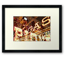 vegas lives Framed Print