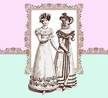 Biedermeier Fashions Elegant Ladies by AntiqueImages