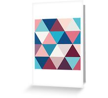 Camaieu of blue and cream Greeting Card
