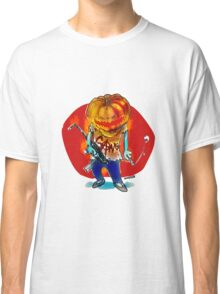 gang squad member pumpkin head with gun Classic T-Shirt
