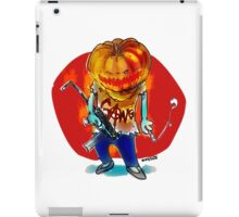 gang squad member pumpkin head with gun iPad Case/Skin