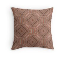 Orange and Brown Diamond Pattern Throw Pillow