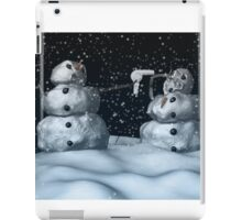 Mean Snowman iPad Case/Skin