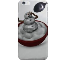 Eating Snowman iPhone Case/Skin