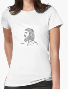Keaton Henson side profile design Womens Fitted T-Shirt