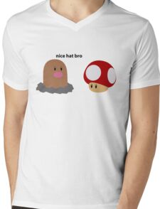 Nice Hat Bro Mens V-Neck T-Shirt