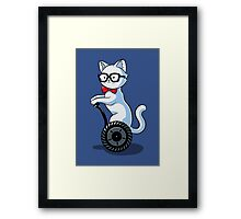 White and Nerdy Framed Print
