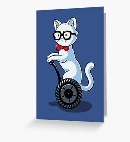 White and Nerdy Greeting Card