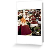 two cars Greeting Card
