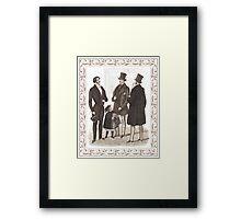 Elegant Biedermeier Gentlemen Vintage Fashion Framed Print