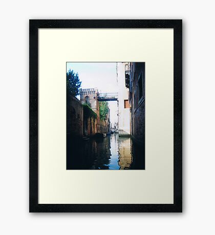 castle bridge Framed Print