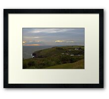 Sunset over Cornwall Framed Print
