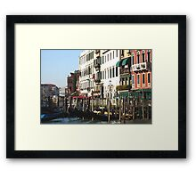 gondolier office Framed Print