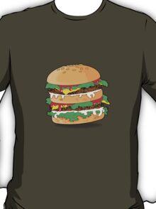 Cartoon Hamburger T-Shirt